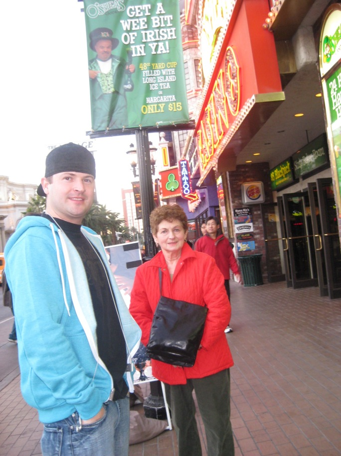 Wes & Dadot on the strip.